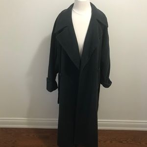 Avenue Vtg Dark Green Double Breasted Long Coat XL